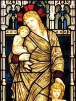 Мария Магдалина – жена Радомира (Иисуса Христа) со своими детьми: сыном Светодаром и дочерью Вестой. Иллюстрация из книги Светланы Левашовой «Откровение»