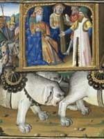 «Монгольский» хан Хубилай едет на охоту (Kubilai a la chasse). Рисунок из книги Марко Поло (1254-1324) о его путешествия по Азии и 17-летнее пребывание при дворе «монгольского» хана Хубилая.
