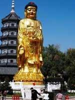 «Ведические символы» на статуе Будды