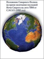 Современное положение Северного Полюса нашей планеты (иллюстрация из книги Николая Левашова «Россия в кривых зеркалах»)