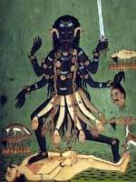 Кали Ма («Чёрная Мать») – индийская богиня смерти, разрушения, страха и ужаса, супруга разрушителя Шивы