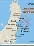 Расположения ядерных станций возле Фукусимы