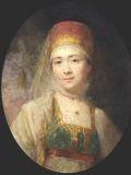 Владимир Боровиковский (1758-1826) Портрет Торжковской крестьянки