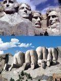 Лица и спины отцов-основателей США...