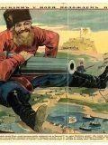 Русский плакат 1904 года, показывающий настоящих затейников войны...