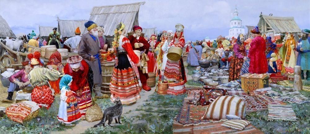Эскиз рисунка ярмарка