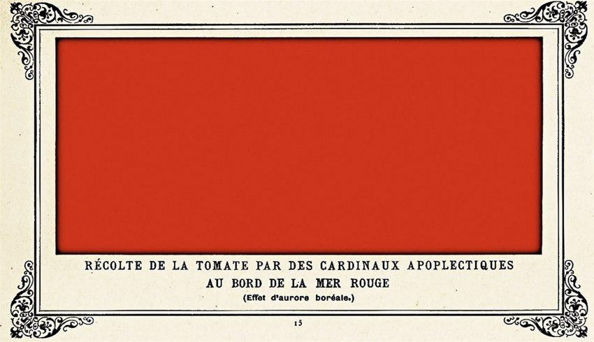 Альфонс Алле, «Уборка урожая помидоров на берегу Красного моря апоплексическими кардиналами», 1882