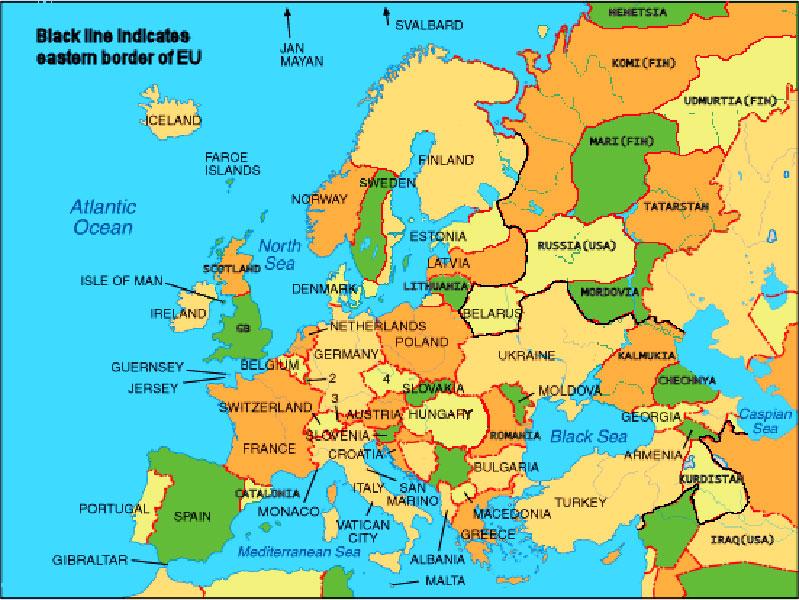 Рисунок 1. Карта Европы, скачанная по запросу «Карта Европы» на финском языке из Финляндии из домена google.fi