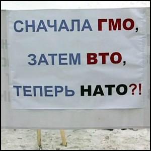 Пикет протеста против НАТО в Ульяновске