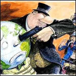 Сионистская финансовая мафия начинает обкладывать данью весь мир