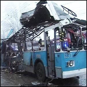 В Волгограде совершён второй теракт – взорван троллейбус