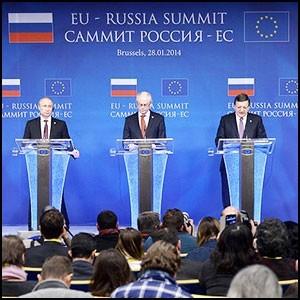 Владимир Путин принимает участие в саммите Россия – Европейский союз