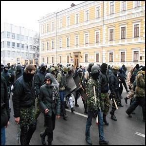 Захватчики на улицах Киева