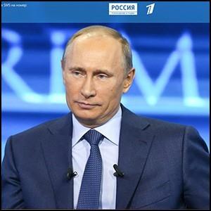 Президент России Владимир Путин отвечает на вопросы народа