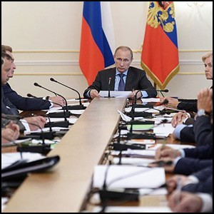 Совещание Президента В. Путина с членами Правительства России