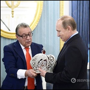 Зачем евреи пытались короновать Владимира Путина кастрюлей с бусами