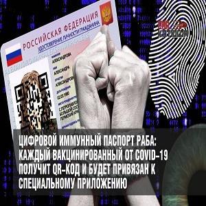 Цифровой иммунный паспорт вакцинированного раба от СOVID-19 раба в виде QR-кода