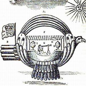 Магнитный летающий корабль 1709 года