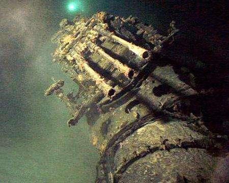 7. «Самурайская подводная лодка» времен Второй МировойИсследователи обнаружили на дне гавани Перл Харбор две японские подлодки, затонувшие во время атаки японской авиации на корабли флота США. Одна из субмарин перевозила аэропланы, а вторая была маленькая, и должна набирать самую высокую скорость.