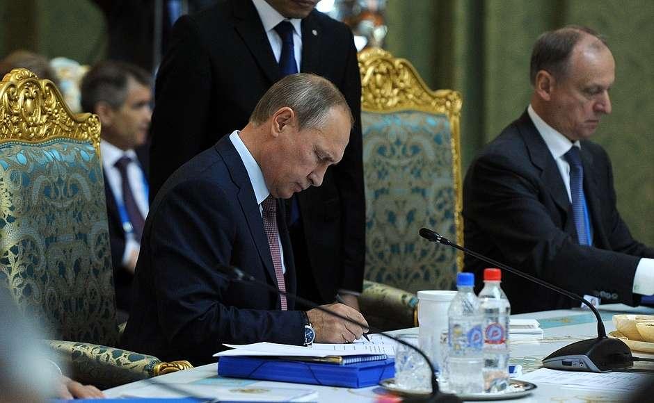Выступление Владимира Путина на заседании Совета коллективной безопасности ОДКБ