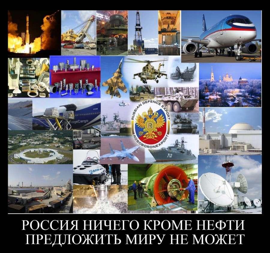 Россия экспортирует уникальную продукцию и технологии