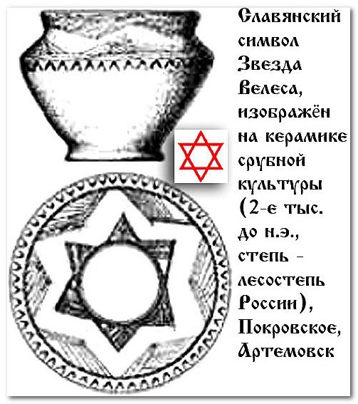 Гексаграмма или Звезда Велеса, это древний, славянский символ