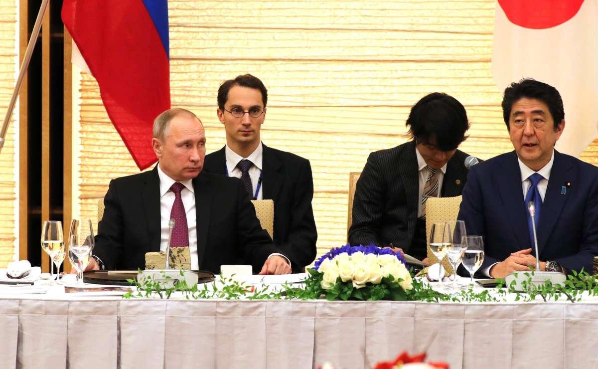 Российско-японские переговоры. СПремьер-министром Японии Синдзо Абэ.