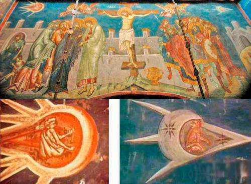 Фреска над алтарем монастыря Visoki Descani. Косово. 1350 г.