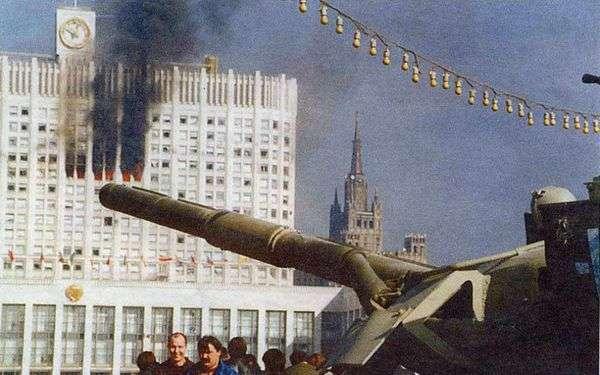21 сентября 1993 Ельцин, при поддержке США, совершил государственный вооружённый переворот в России
