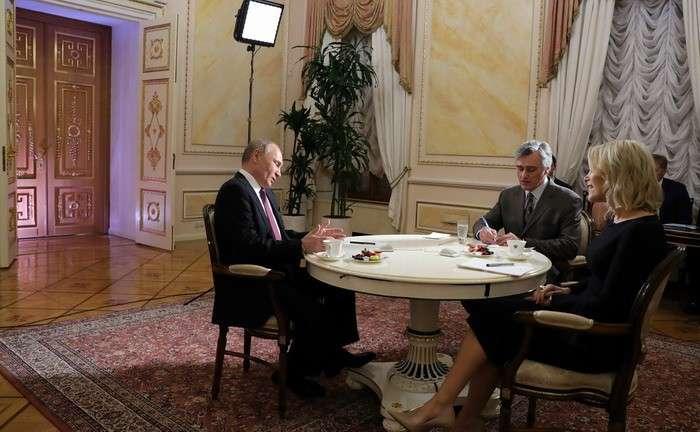 Интервью Владимира Путина телеканалу NBC: последнюю реплику вырезали