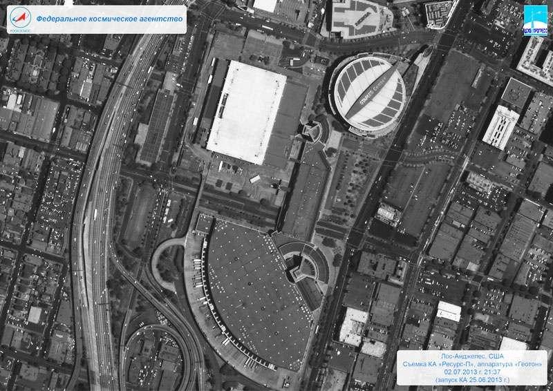 Снимок улиц Лос-Анджелеса со спутника «Ресурс-П».
