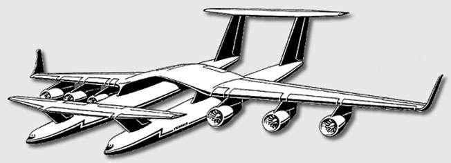 Проект двухфюзеляжного самолета Молния-1000 («Геракл»).