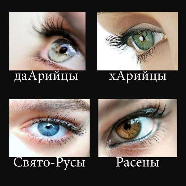 Разные глаза народов Белой расы