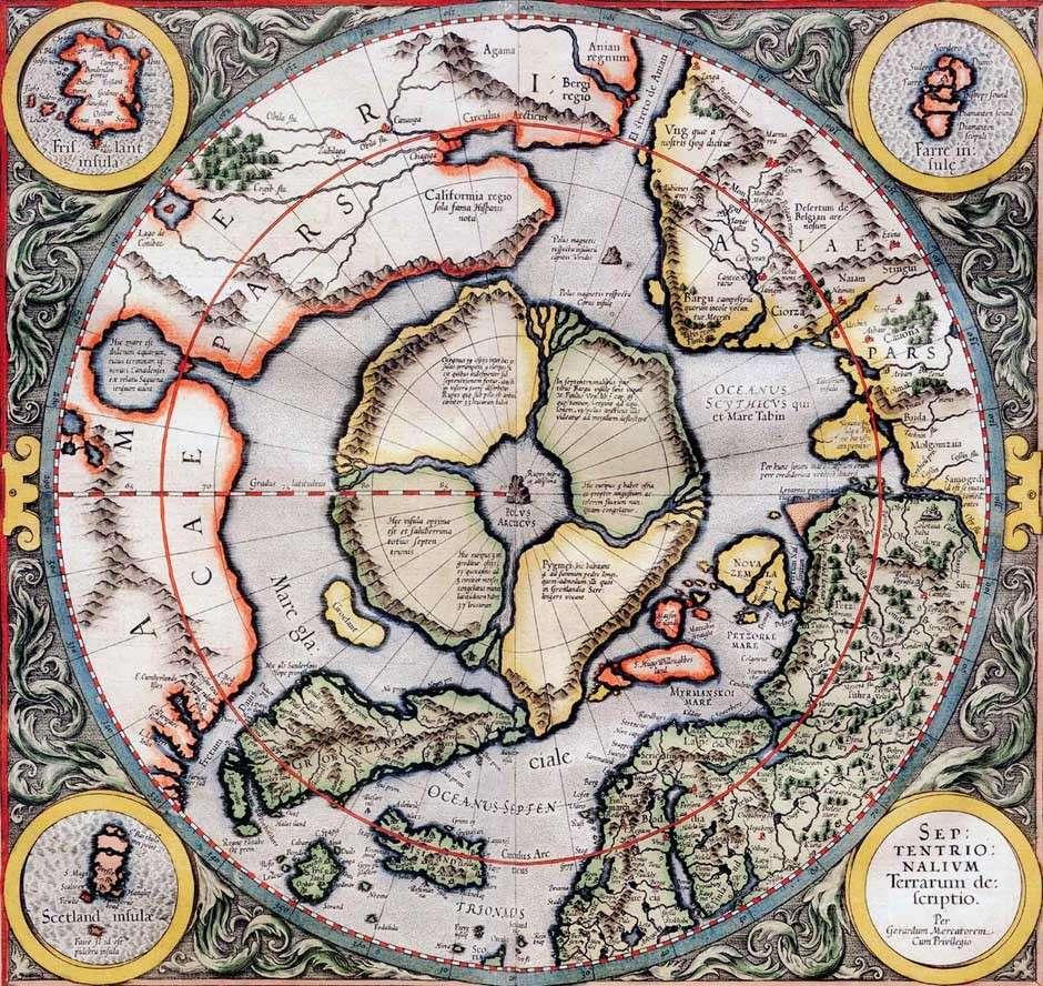 Предполагаемое место континента Даария на Мидгард-земле