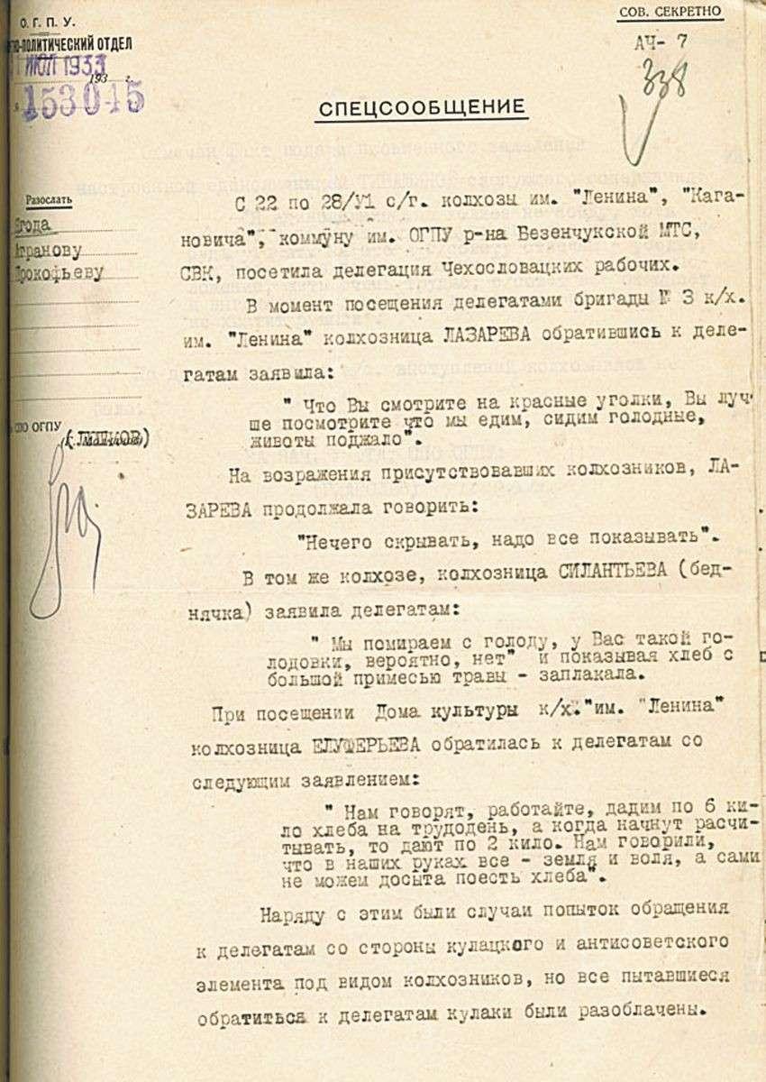 «Голодомор» 1930-х годов в СССР – как инструмент геополитики США