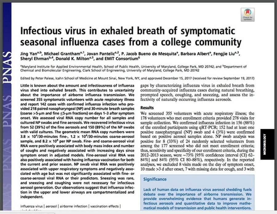 Привитые от гриппа в 6 раз больше распространяют болезнь