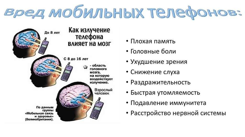 Мобильный телефон приводит к раковым опухолям мозга и хроническим заболеваниям