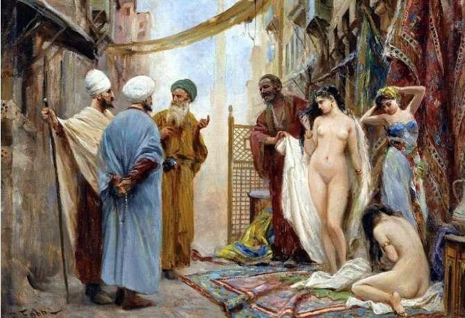 Цивилизованные европейцы покупали белых рабынь на невольных рынках