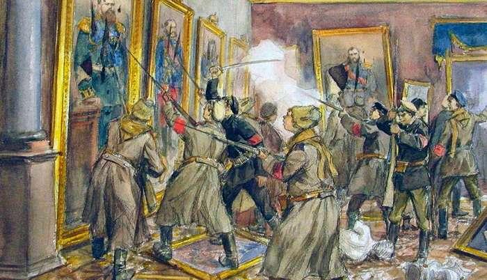 Октябрьскую революцию 1917 года совершили царские генералы