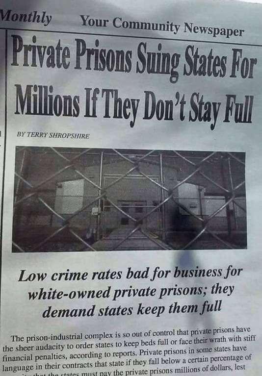 Частные тюрьмы США – узаконенное рабство