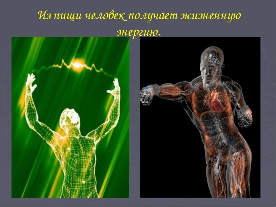 Энергетическое влиянии пищи на организм человека и на его психику
