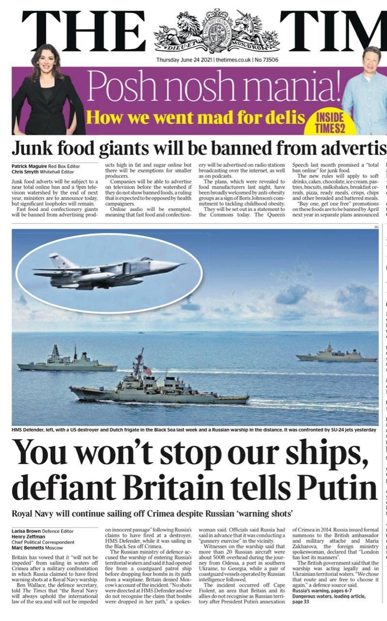 Британский эсминец в Чёрном море показал всем чей Крым, исполнив приказ Джонсона