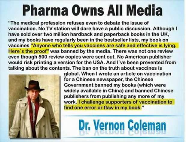 Правда о вакцинации от коронавируса. Вернон Коулман