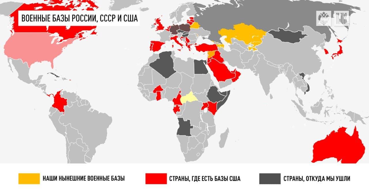 Зачем России нужны военные базы за рубежом