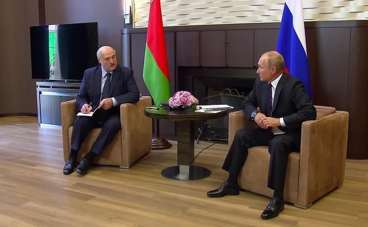 Встреча Путина и Лукашенко 14 сентября.