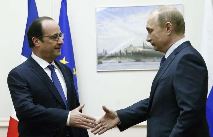 Владимир Путин не стал поднимать тему поставок Мистралей в разговоре с Олландом