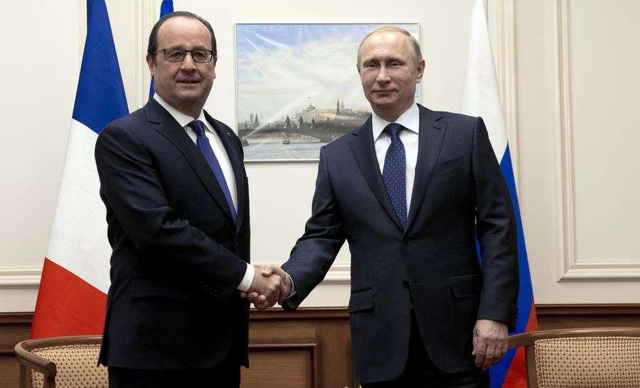 Владимир Путин: Визит Франсуа Олланда поспособствует разрешению многих проблем