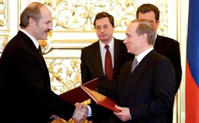 Церемония обмена грамотами о ратификации Договора о создании Союзного государства