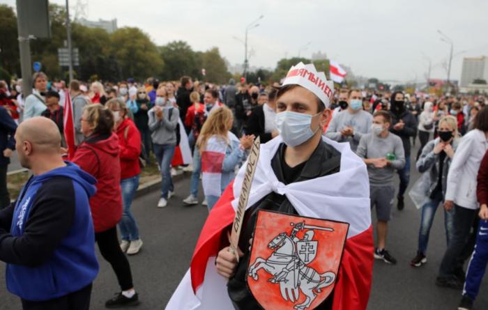 Минск – 27 сентября: «народной инаугурации» Тихановской не получилось – народ был против