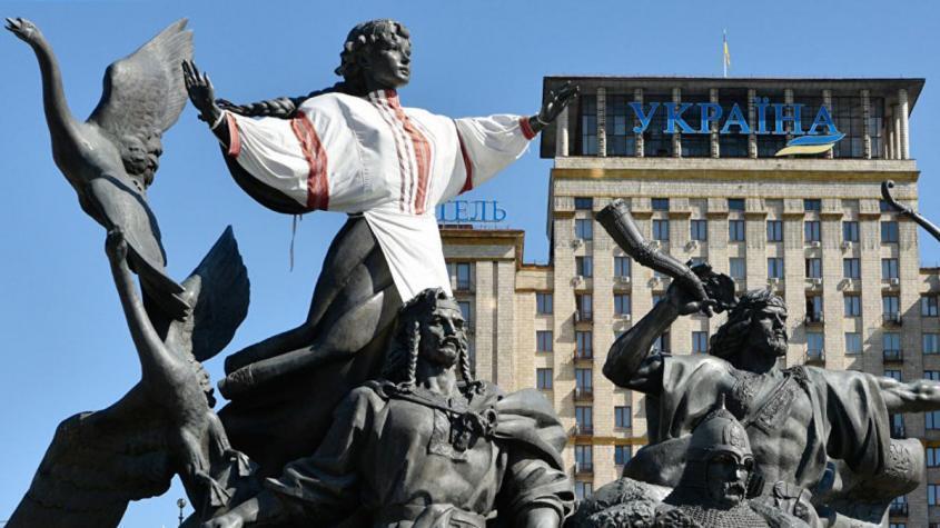 Памятник основателям Киева на площади Независимости в Киеве – РИА Новости, 1920, 27.09.2020
